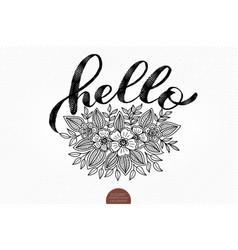 elegant hello card invitation card vector image