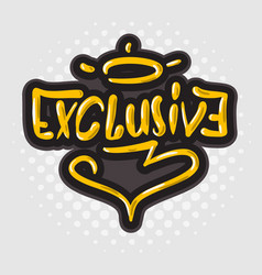Exclusive card sign hand drawn brush lettering vector