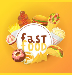 fast food banner poster vector image
