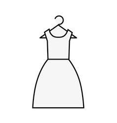 female dress clothes fashion on hanger vector image