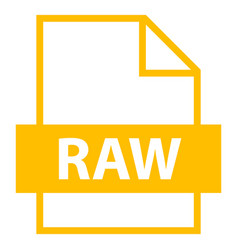 File name extension raw type vector