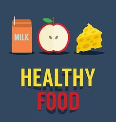 Flat Design Healthy Food vector image