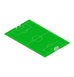 Football and soccer sport field isometric vector