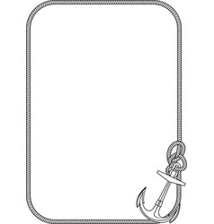 frame with anchor vector image