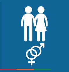 Gender icon people icon design vector