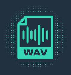 Green wav file document download wav button icon vector