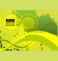 Green wave abstract background with copy space vector