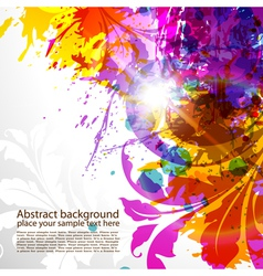 grunge colored background vector image