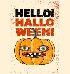 halloween typography vintage grunge style poster vector image
