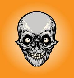 head angry skull vector image