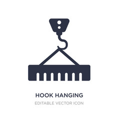 Hook hanging material icon on white background vector