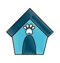 House mascot isolated icon vector