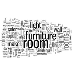How to make your room look larger vector