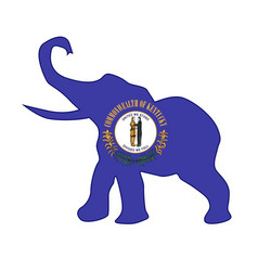 Kentucky republican elephant flag vector