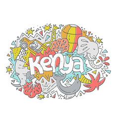 Kenya symbols vector
