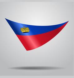 Liechtenstein flag background vector