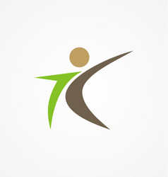 Man active people logo vector