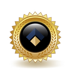 Mybit cryptocurrency coin gold badge vector