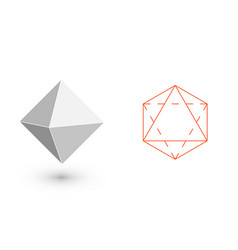octahedron - geometric figure hipster fashion vector image