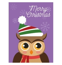 Owl cartoon of Christmas season design vector