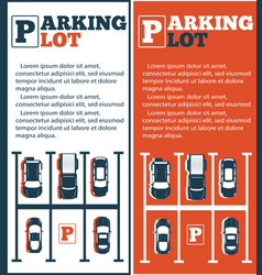 parking lot flyers in minimalist style vector image