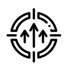 Personal goals icon outline vector