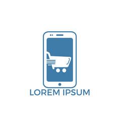 Phone shop logo design vector