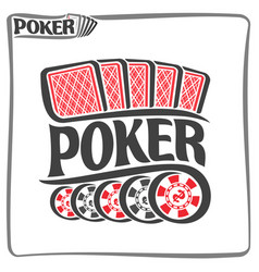Poster for poker gamble game vector