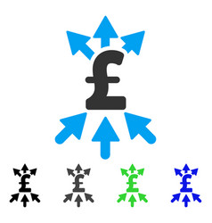 Pound payment broker flat icon vector
