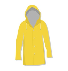 Rain coat vector image