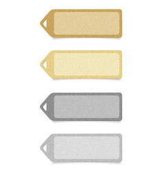 recycled paper labels set vector image