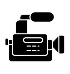 Reportage camera solid icon camcorder vector