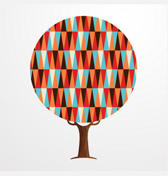 retro abstract texture decoration tree concept vector image