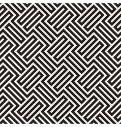 Seamless Black And White Geometric Stripes vector