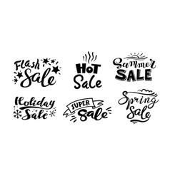 seasonal sale monochrome stickers set vector image