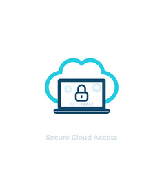 secure cloud access icon vector image