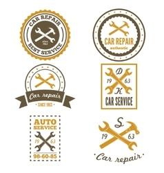 Set of vintage mechanic labels emblems and logo vector