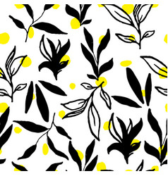 Simple stylish seamless hand-made pattern vector