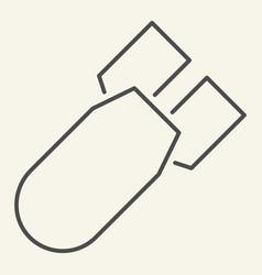 submarine warhead thin line icon torpedo vector image