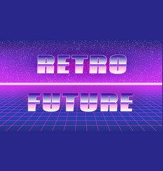 Synthwave style poster retro future vector