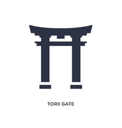 Torii gate icon on white background simple vector