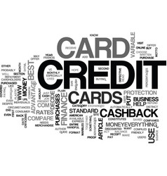 what is a cash back credit card text word cloud vector image