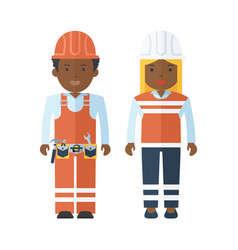black people worker vector image