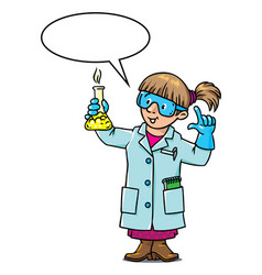 funny chemist or scientist vector image