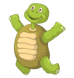 Funny turtle jumping vector