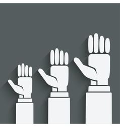 hands up concept vector image vector image