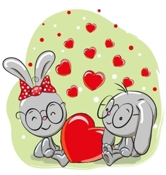 Lovers Rabbits vector image