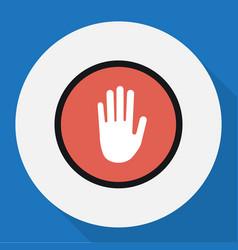 Of procuring symbol on palm vector