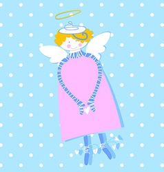 happy love angel vector image vector image