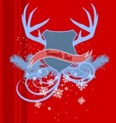 holiday heraldry vector image vector image